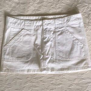 ABERCROMBIE & FITCH White Cotton Mini Jean Skirt 2